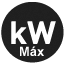 Power with pellet max (kW)
